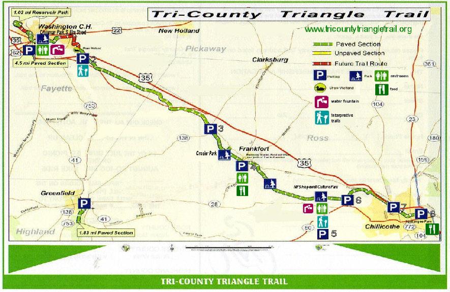 Bike Trails In Ohio Map.Trail Map Info